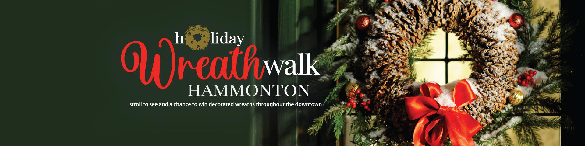 Wreath Walk starts Nov 28