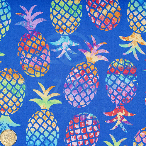 Masks: Pineapples on Blue