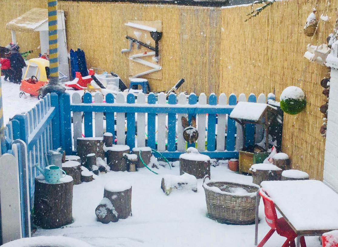 Our Imagination Garden in the Snow