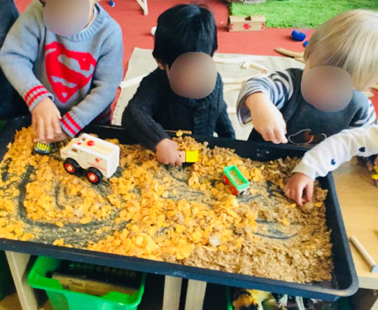 Sensory Play with our Cars