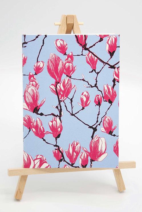 Carnet illustré en papier recyclé Magnolias