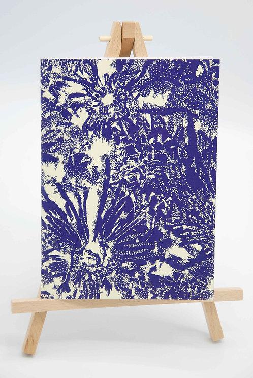 Carnet illustré en papier recyclé Floraison