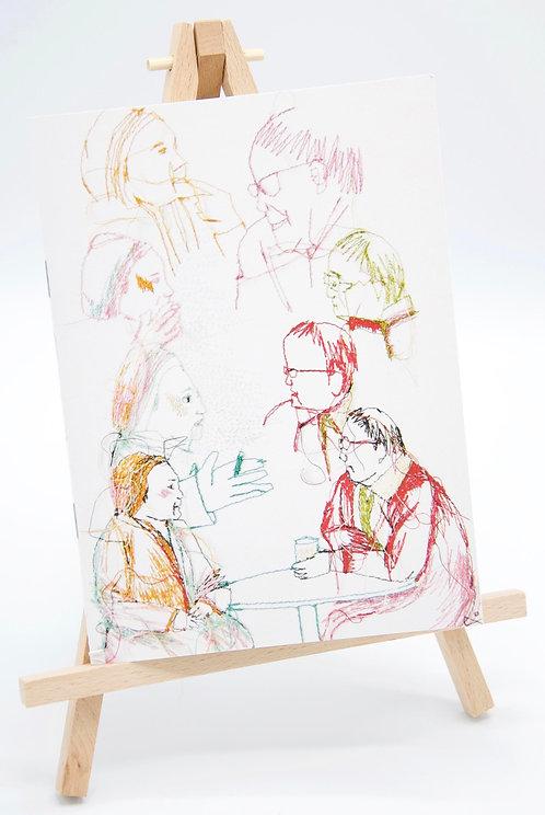 Carnet illustré en papier recyclé Au Café