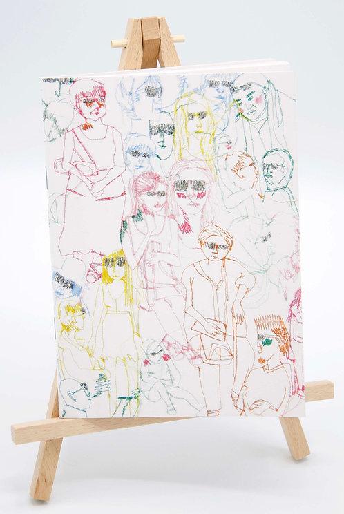 Carnet illustré en papier recyclé Summer Glasses