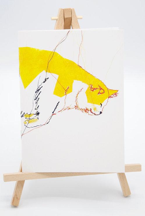 Carnet illustré en papier recyclé Le Chat qui rêve III