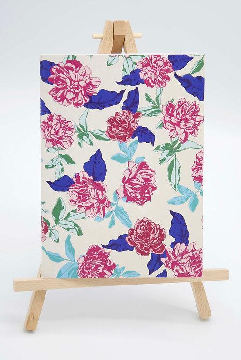Carnet illustré papier recyclé Fleurs dansantes