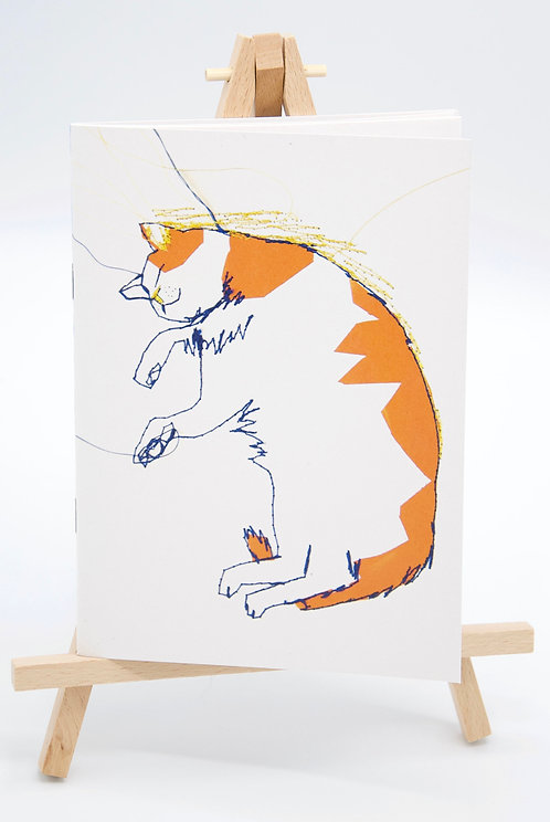 Carnet illustré en papier recyclé Le Chat qui rêve