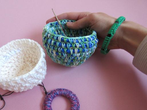 Atelier crochet récup' des optimistes, 9 juin 2019