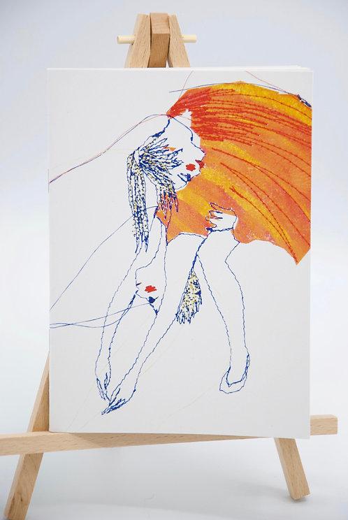 Carnet illustré en papier recyclé Danseurs