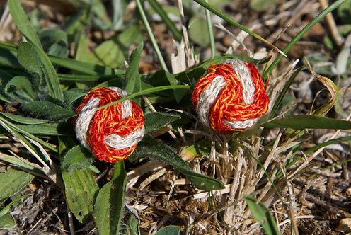 Boucles d'oreilles Infini tricot d'art