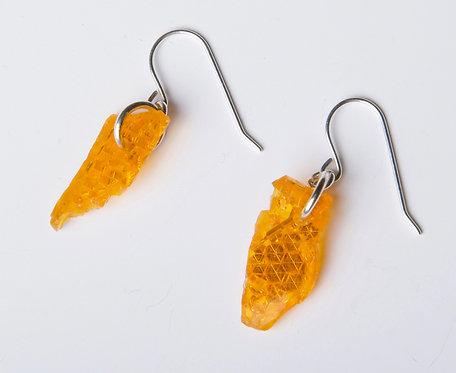 Boucles d'oreilles Éclat orange
