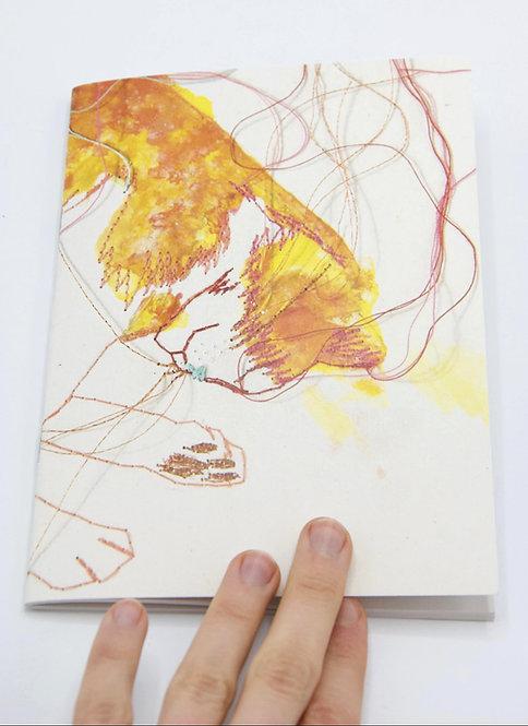 Carnet illustré en papier recyclé Le Chat qui rêve II
