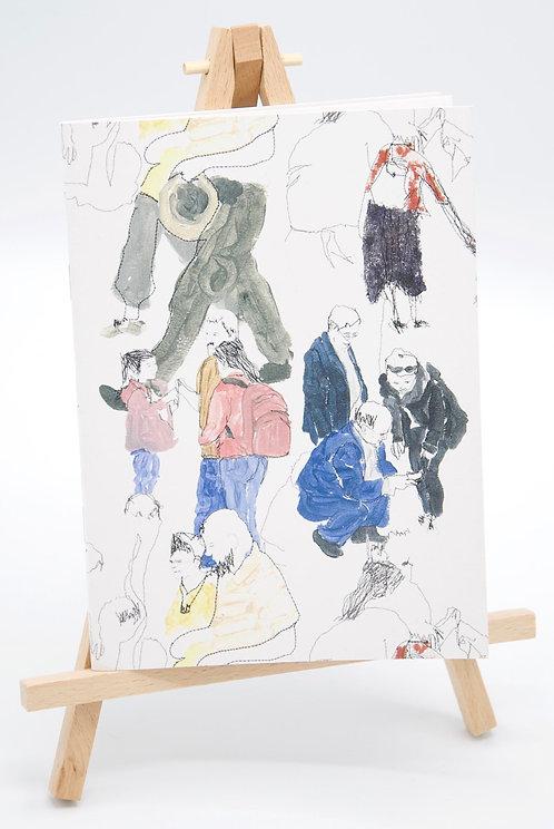 Carnet illustré en papier recyclé Everyday People