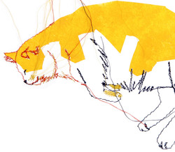 Tableau brodé Réna écoconception le chat qui rêve V Besançon