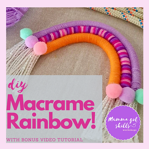 DIY Macrame Rainbow