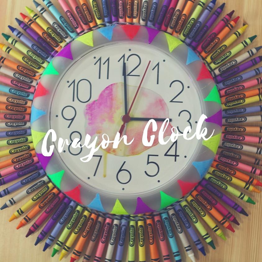 Mums and Bubs Crayon Clock (1)
