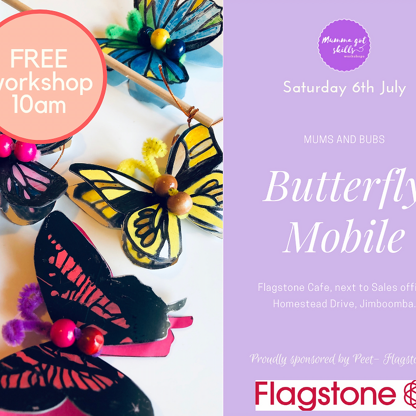 FREE Mums and Bubs Butterfly Mobile