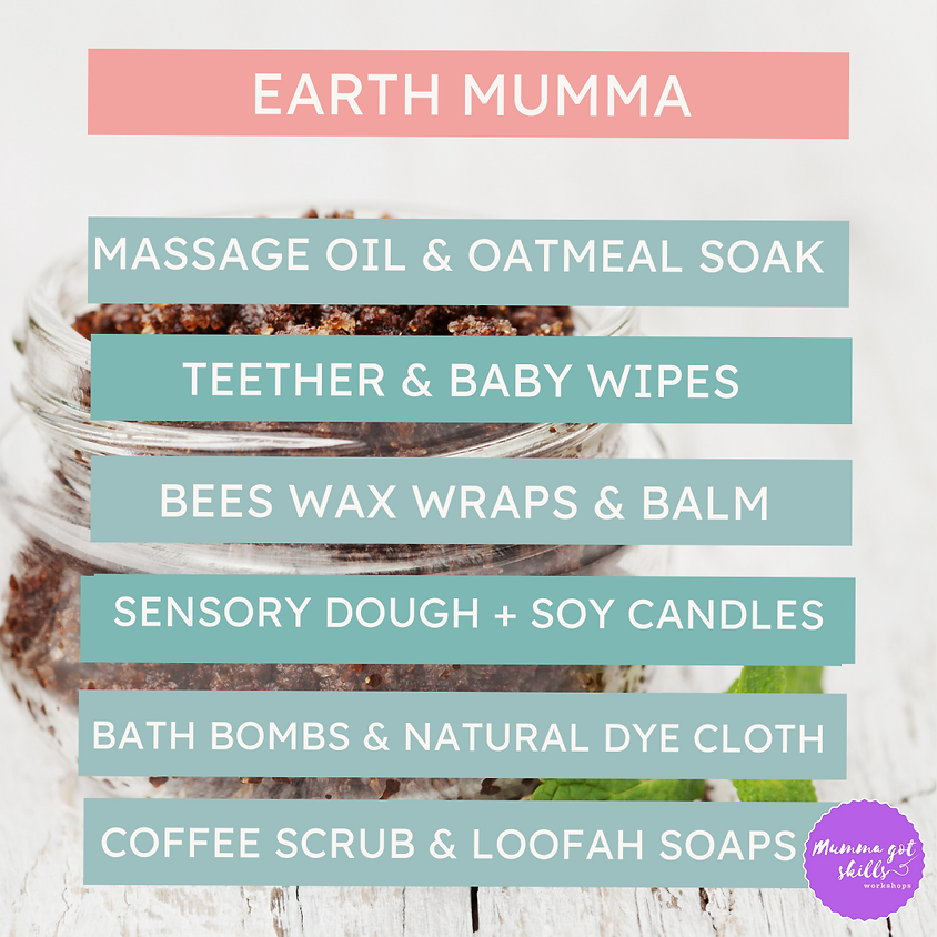 Waitlist Earth Mumma Workshops