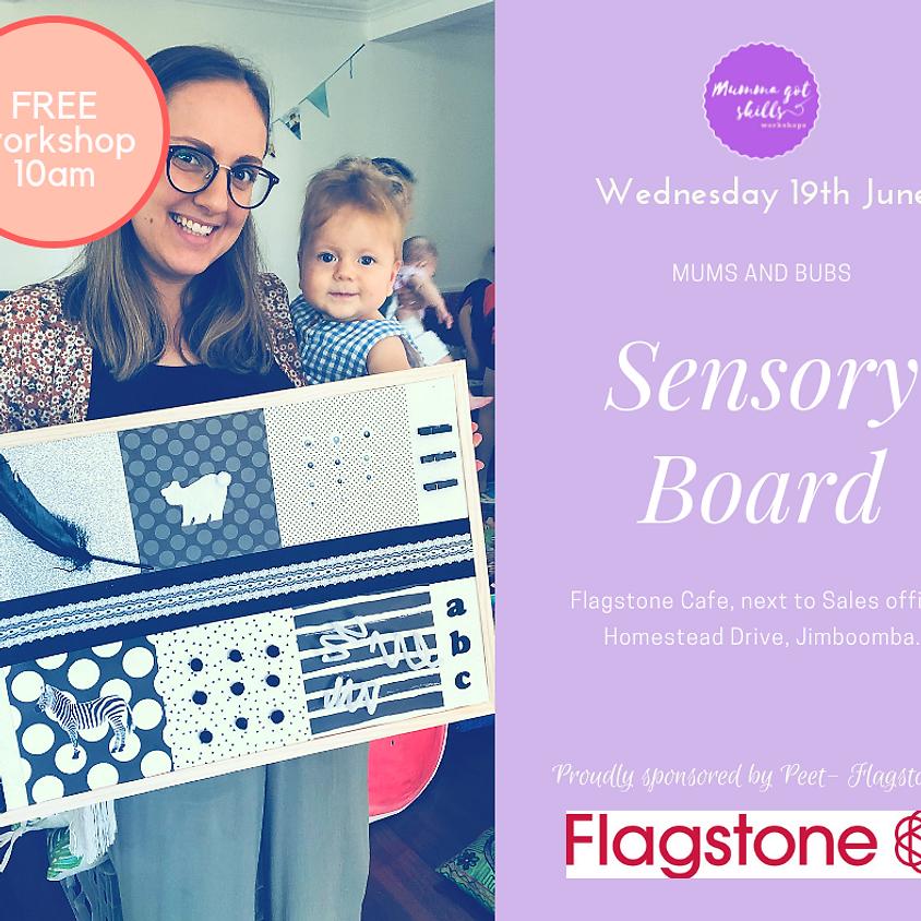 FREE Mums and Bubs Sensory Board