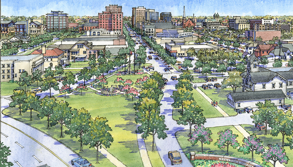 streetscape master plan rendering