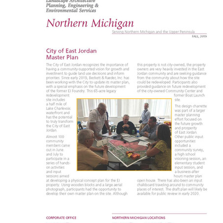 Northern Michigan Fall Newsletter