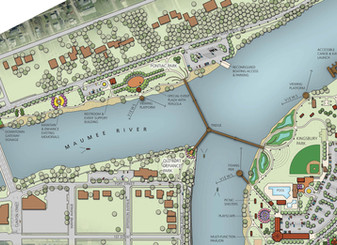 Defiance Riverfront Master Plan in the Toledo Blade