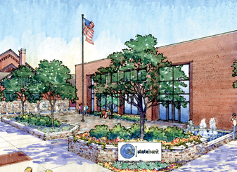 State Bank Courtyard Renovation in The Crescent-News