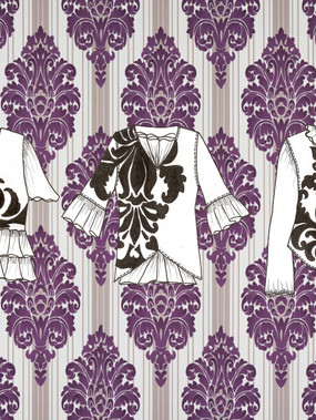 TEE-SHIRTS IMPRIMES STYLE BAROQUE