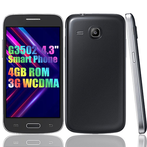 Smartphone  G3502 4GB  3G W 4.3inch Unlocked Android Dual Sim Mobile Phones