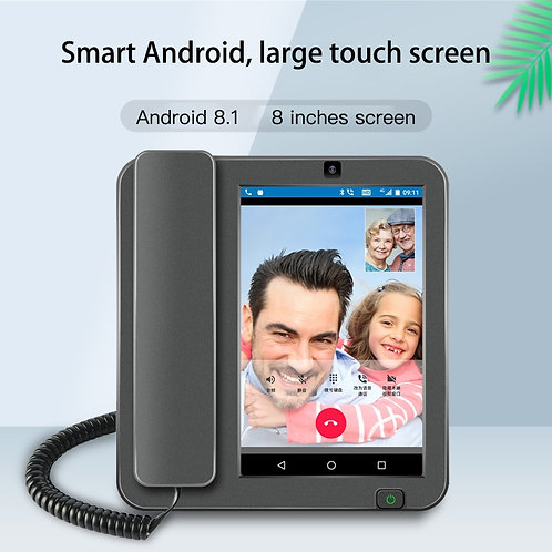 Android 8.1 PSTN/4G/LAN 2G+16G Wireless  RJ11/RJ45  WIFI Video Mobile Phone