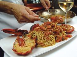Spaghetti Lobster and Shrimp