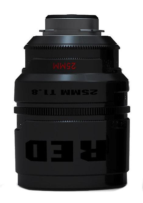 RED Pro Prime 25mm T1.8, PL Mount (Metric)