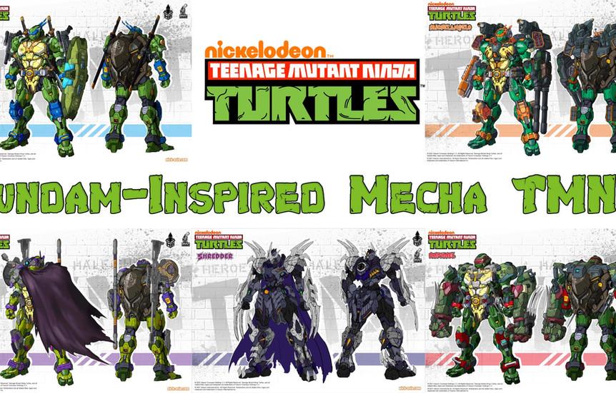 Gundam-Inspired Mecha TMNT Toys