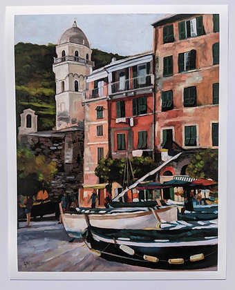 "11x14 ""From A Cafe In Vernazza"" Print"
