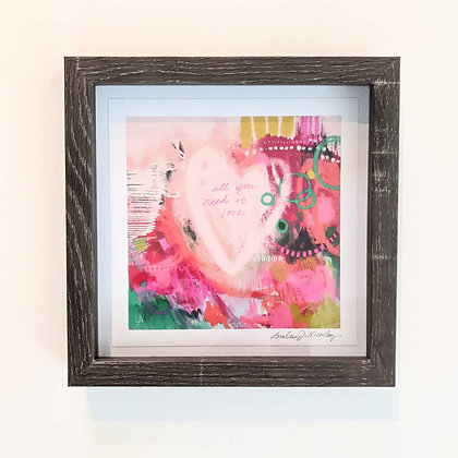 """""""All You Need is Love"""" Print GREY FRAME"""