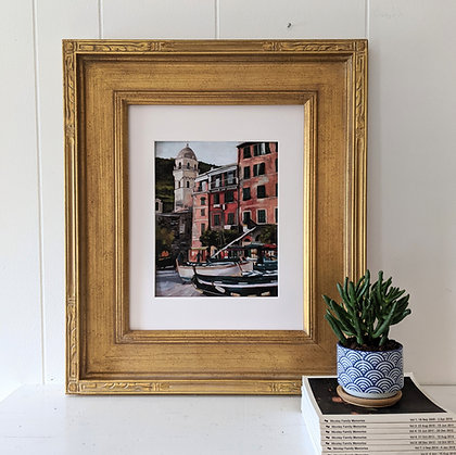 """8x10 """"From a Cafe in Vernazza"""" Print"""