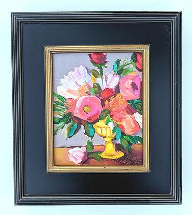 Flowers in Yellow Vase