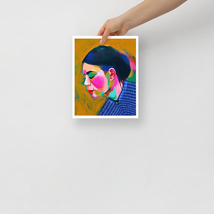 Woman in Blue Print 8x10