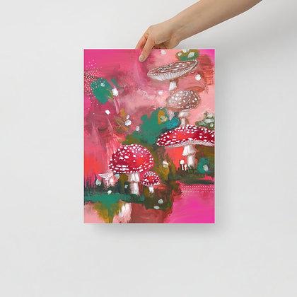 Pink Mushrooms Print