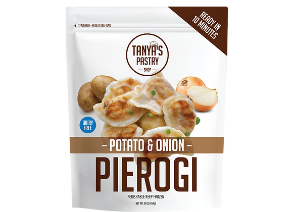 Potato Onion Pierogi (vegan)