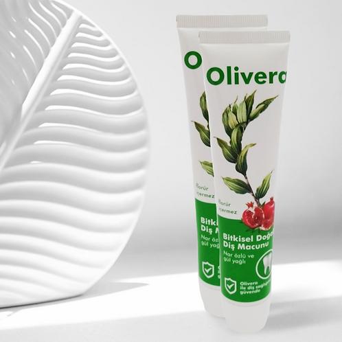 Olivera  %100 Doğal Diş Macunu  75 ml -  2'li Paket
