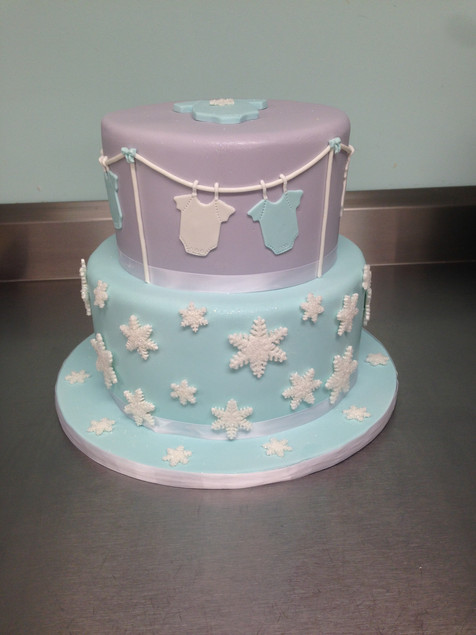 Winter Onesie Baby Shower Cake