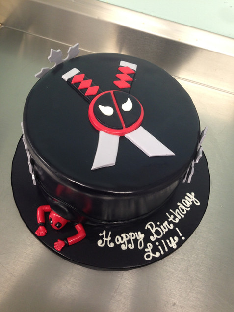 Deadpool Illusion Birthday Cake