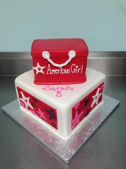 American Girl Shopping Bag Birthday Cake