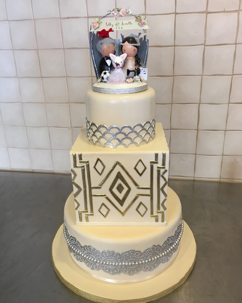 Great Gatsby Themed Wedding Cake