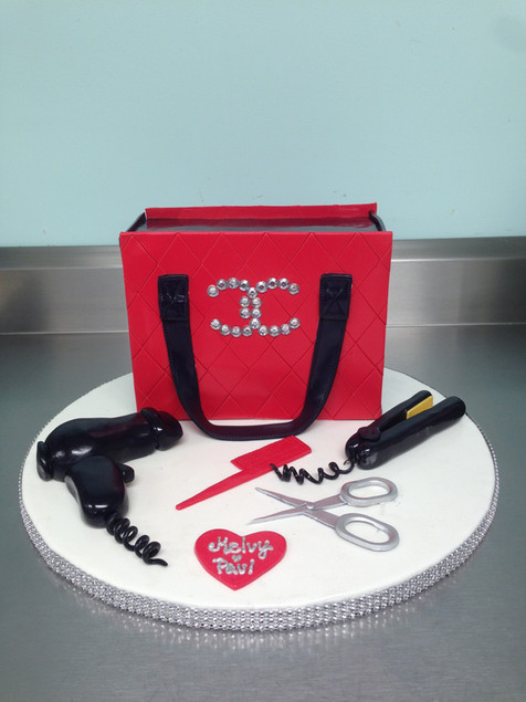 Designer Chanel Bag Birthday Cake