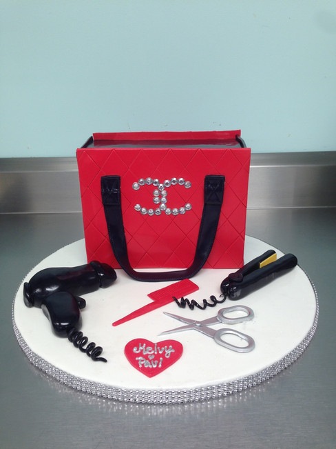 Designer Chanel Bag Birthday Cake