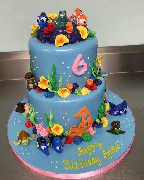 Finding Nemo Themed Birthday Cake