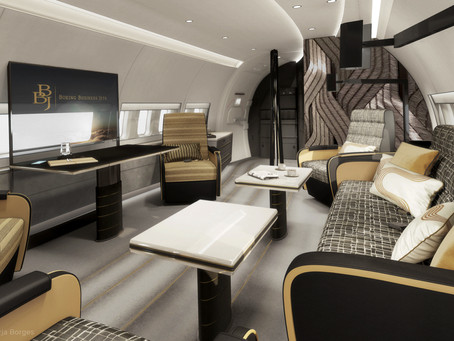 The luxurious world of private jet interiors