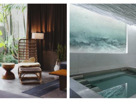 Designing a unique spa interior experience using feature walls